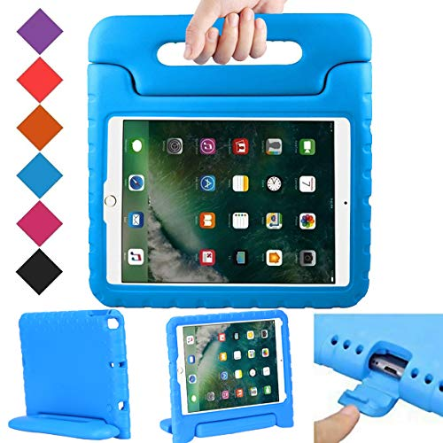 BMOUO Case for New iPad 9.7 Inch 2018/2017 - Shockproof Case Light Weight Kids Case Cover Handle Stand Case for iPad 9.7 Inch 2017/2018 (iPad 5th and 6th Generation) Latest Model - Blue