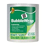 "Duck Brand Bubble Wrap Original Cushioning, 12"" Widex60' Long, Single Roll (1061835), Clear"
