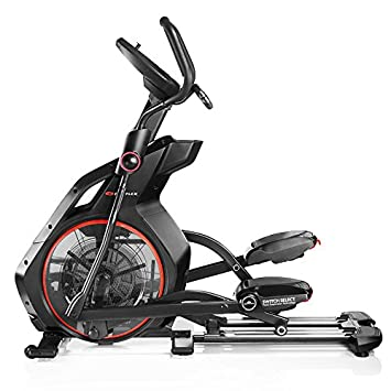 Bowflex-Bicicleta elíptica semiprofesional BXE226- Color Negro y Rojo- Fitness Apps Bluetooth 4.0