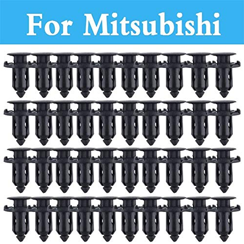 Fastener & Clip 9mm Hole Car Parts Panel Trim Clips Plastic Rivet Fastener for Mitsubishi Galant I I-Miev Lancer Cargo Evolution Ralliart Minica