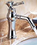 AWXJX European Style Copper Bath Wash Your Face Chrome Plated Sink Mixer Taps