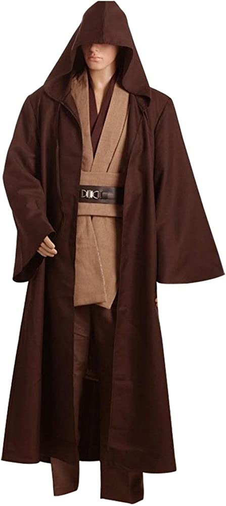 Túnica Jedi de Daiendi. Para cosplay de Kenobi. Color: marrón. Talla para adultos.