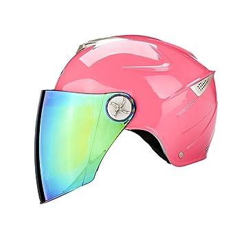 Four Seasons Universal casco de seguridad ciclomotor motocicleta casco de protección solar hombres y mujeres medio