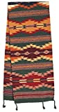 El Paso Designs Large Southwest & Native American Style Table Runner made from Hand Woven Wool. 16'' x 80'' (Dark Green H)