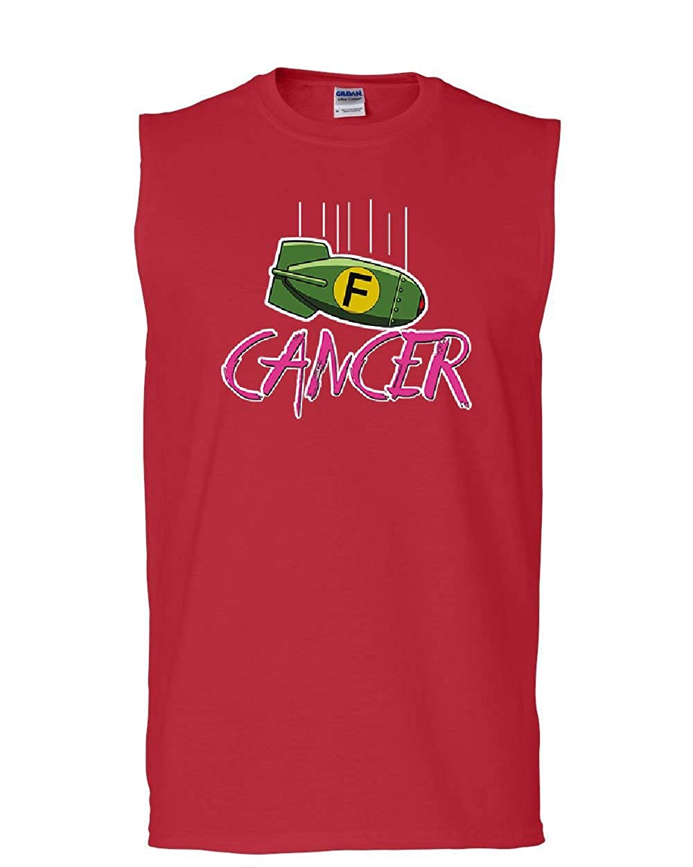 Tee Hunt F Bomb Breast Cancer Muscle Shirt Fight Support Hope Awareness Cure Sleeveless