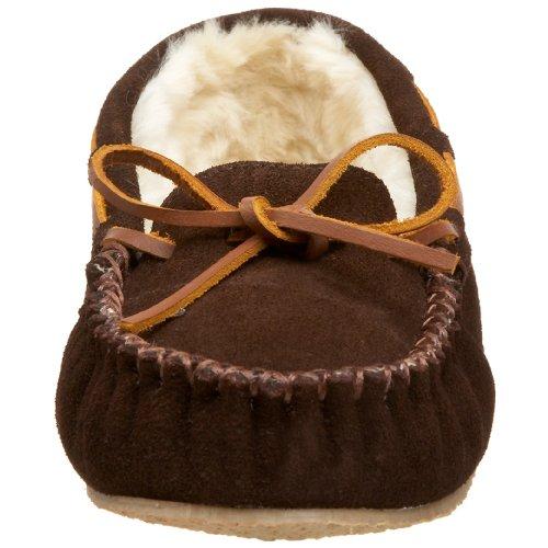 Women's Moccasin Slipper Cally Chocolate Minnetonka SPfdnwq7FS