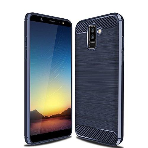 quality design e1fea 8c457 Galaxy A6 Plus 2018 Case, Galaxy A6+ 2018 Case, Cruzerlite Carbon Fiber  Shock Absorption Slim Case for Samsung Galaxy A6 Plus 2018 (Blue)