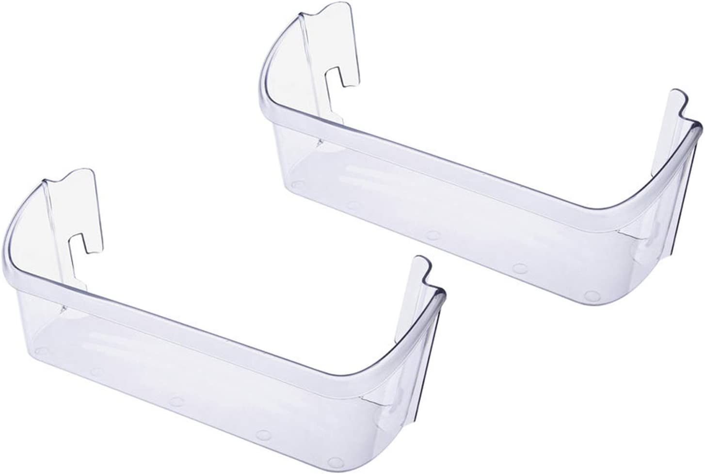 Siwdoy (Pack of 2) 240323002 Refrigerator Door Bin Compatible with Frigidaire Electrolux Replaces PS429725 AP2115742, Clear