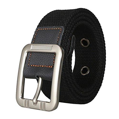 Classic D-ring Belt (Waist Belt Web Belt Canvas Belt Woven Belt for Men and Women Jeans)