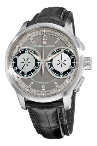 Maurice Lacroix Men's MP7128-SS001320 MasterPiece Grey and Silver Dial (Manual Wind Chronograph)
