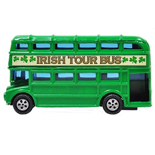 Carrolls Irish Gifts Green Ireland Double Decker Bus Souvenir 3.5