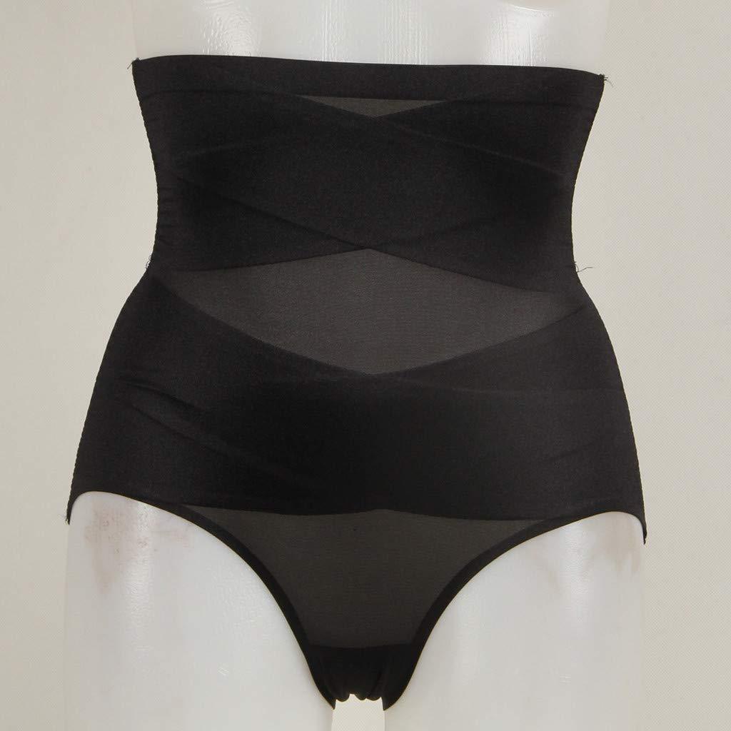 HYWJSZ Women Shaper Slim Panty Cross Lace Fashion Breathable No Trace High Waist Pants