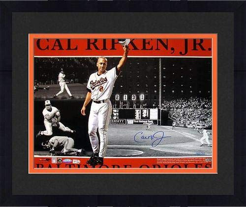 Framed Cal Ripken Jr. Baltimore Orioles Signed 16x20 Photo Collage ~Limited Edition of 2000~ (Ironclad/MLB Authentic) - Steiner Sports Certified (Baltimore Orioles Ironman Framed)