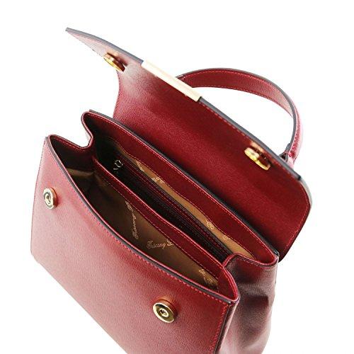 Saffiano Piccolo Tuscany Tl Lipstick Pelle In Bauletto Leather Rosso Bag O1OZ4