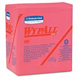 Kimberly-Clark Professional WYPALL X80 SHOPPRO 12 1/2'' X 12'' Red HYDROKNIT Quarter Fold Wiper (1/ Pack)