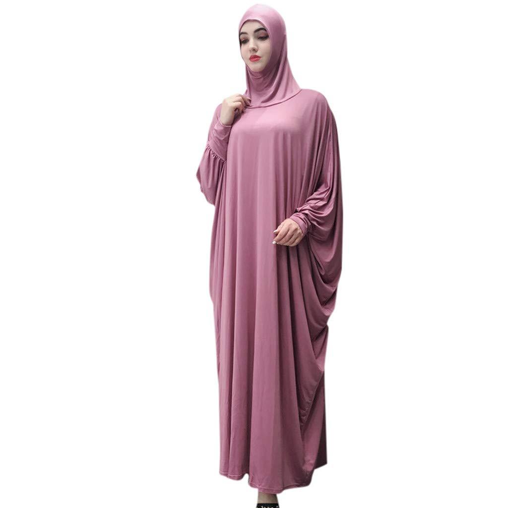 Clearance!Muslim Women Ethnic Robes Muslim Ramadan Long Sleeve Islamic Muslim Middle-East Cardigan Ramadan Dress (Watermelon) by PaJau (Image #1)