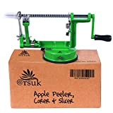 ARSUK Apple Peeler, Vegetable, Fruit Peeler, Pear Potato Slicer Corer, Peeling Machine (Green Peeler)