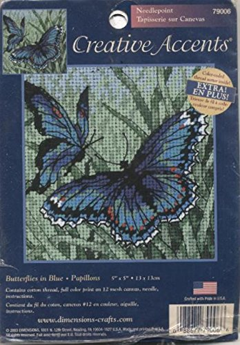 Creative Accents Butterflies in Blue Papillons Needlepoint Kit ()