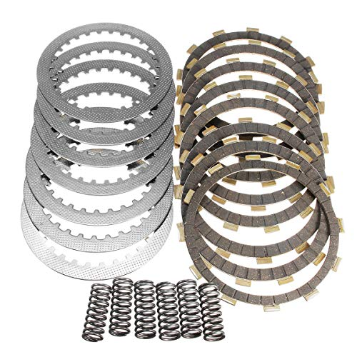 Clutch Kit With Heavy Duty Springs Plates Fit TRX 450 R TRX450 2004-2009 - Motorcycle Maintenance & Repair Tools - 8 X Friction Plates, 7 X Steel Separator Plates ()