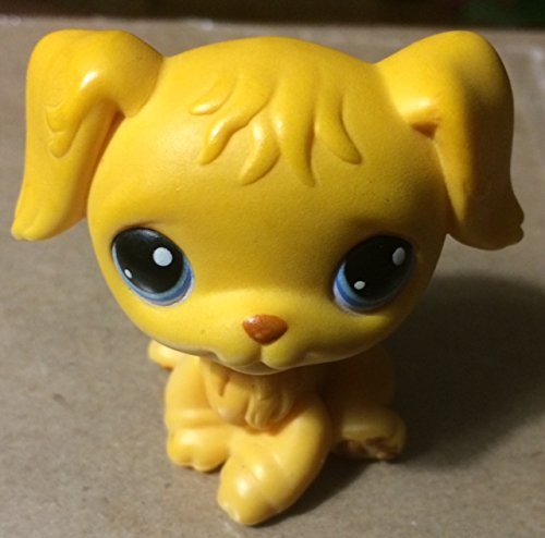 Hasbro Year 2004 Littlest Pet Shop Single Pack Series Bobble Head Pet Figure - Yellow Golden Retriever Puppy with