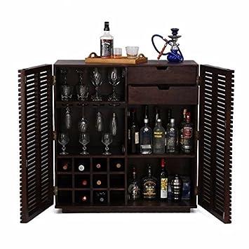 Ringabell Altavista Tope Solid Wood Bar Cabinet (Mahogany Finish)