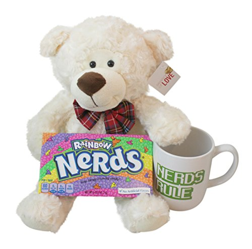 "3 Pc Nerdy Themed Bundle: 10"""" Nerdy Bowtie Teddy Bear Pl..."