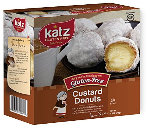 Katz Gluten Free Custard Donuts, 8.5 Ounce, Certified Gluten Free - Kosher - Dairy, Nut & Soy free - (Pack of 1)