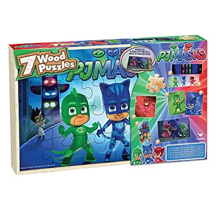 PJ Masks Wood Jigsaw Puzzle - 7 Pack