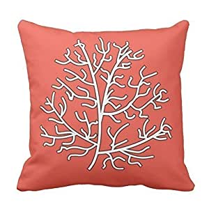 Coral Reef Throw Pillow Cover Cotton Pillowcase Cushion Cover