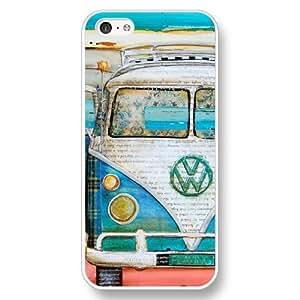 UniqueBox Customized White Hard Plastic iPhone 5c Case, VW Minibus iPhone 5C case wangjiang maoyi