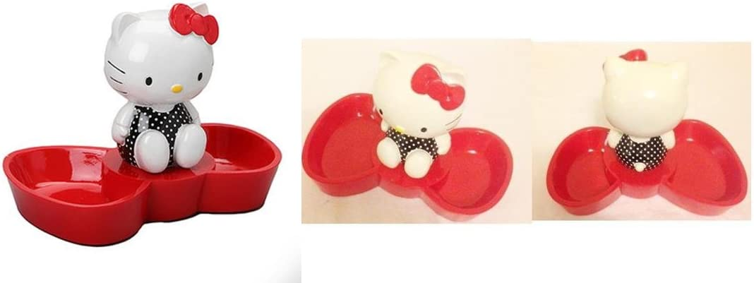 Hello Kitty Red Bow Adorable Resin Jewelry Tray 6 x 5