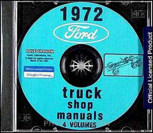 1972 Ford Truck Repair Shop & Service Manual CD Bronco Pickup F100 F250 F350 Van E100 E250 E350