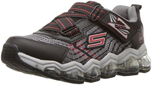 Skechers Kids Boys' Turbo-Flash-90596L Sneaker,Black/red,3 Medium US Little Kid by Skechers