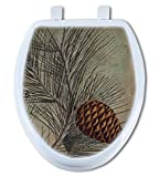 Artisans Seats Decorative Toilet Seats, PINE CONE, Made In America: Round