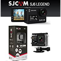 SJCAM SJ6 Legend Dual Screen 2-inch LCD Touchscreen 2880x2160 Novatek NT96660 Sports Action Camera with Accessories(Black)