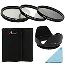 XCSOURCE 58mm 3PCS UV CPL ND4 Filter + Lens Hood For Nikon D800 D700 D610 D600 D300S D90 LF282