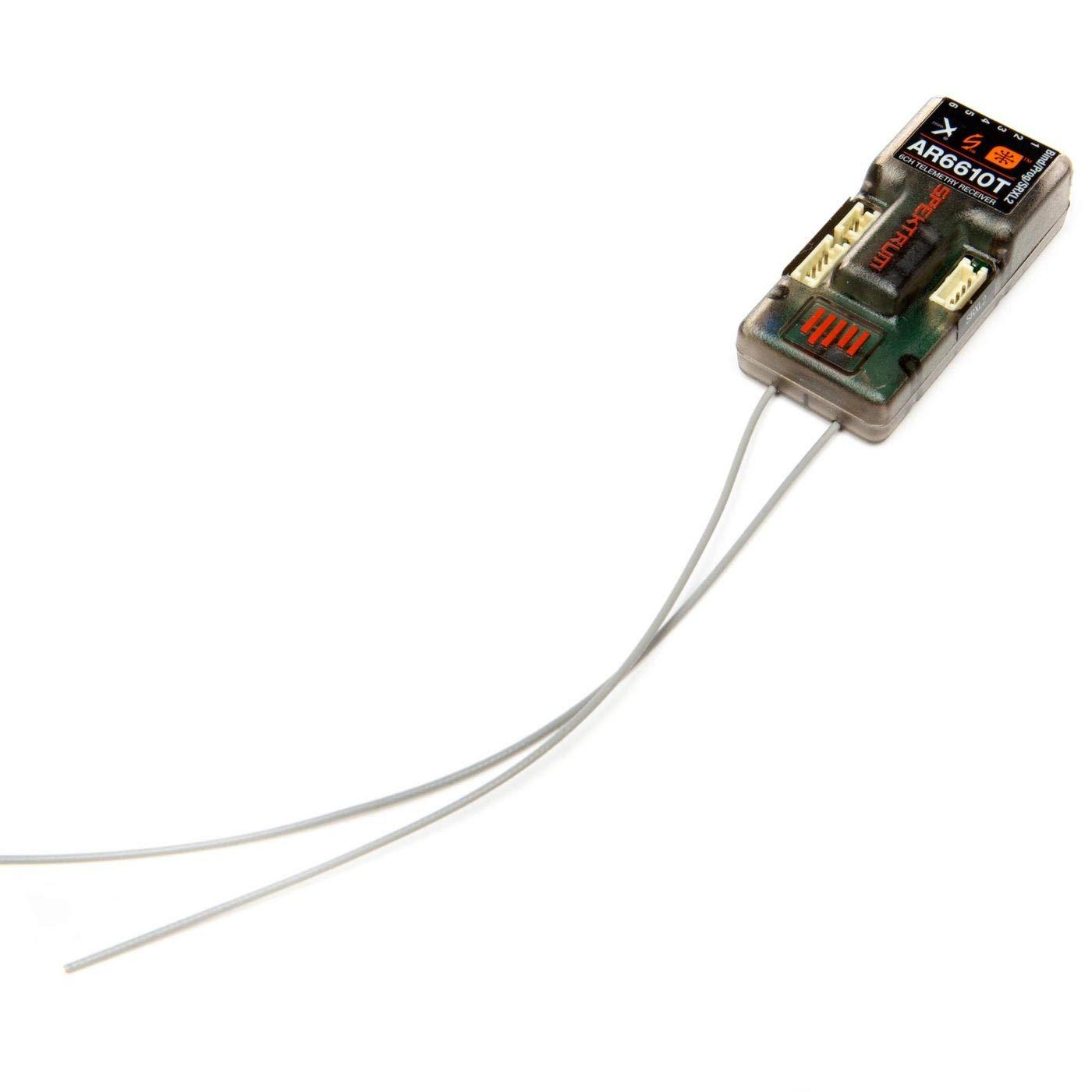 SPMAR6610T Spektrum AR6610T 6-Channel DSMX Telemetry Receiver