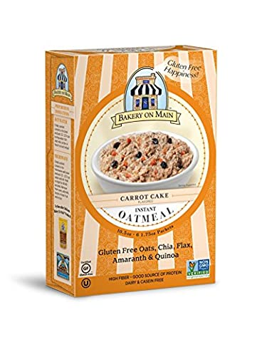 Bakery On Main Gluten-Free, Non-GMO Instant Oatmeal, Carrot Cake, 10.5 Ounce/6 Count Box