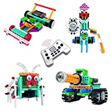 NEOWOO Robotic Kit, Remote Control Building Kits For Kids, 4 in 1 Robot Vehicle Building Kit, Construction Vehicle Robotic Kit, Remote Control Blocks, Remote Control Robot For Fun