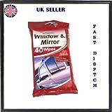 Window & Mirror Wipes 40pk