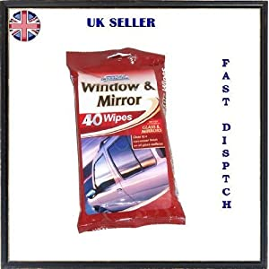 Window & Mirror Wipes 40pk