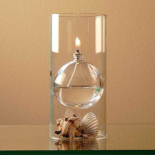 amazon com the modern transcend clear glass oil lamp gift set is a