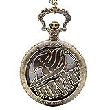 Cosplay Fairy Tail Natsu Dragneel Design Quartz Pocket Watch Mens Boys
