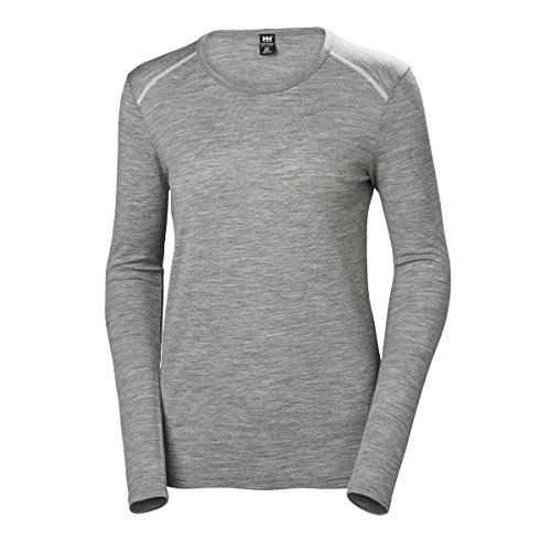 Helly W 970 Mujer Ls Grey Melange Hansen Mid Hh Camiseta rFOrvqg