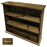 Cheap Sawdust City Solid Wood Hall Bookcase (Walnut Stain)