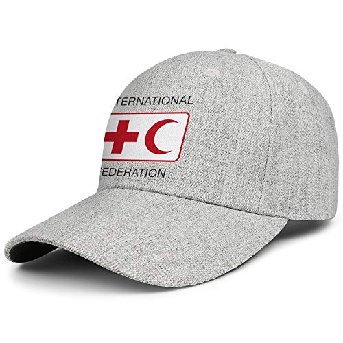International Federation of Red Cross and Red Crescent Societies Adjustable Baseball Cap Snapback Dad Hat Wool (Federation Of Red Cross And Red Crescent Societies)