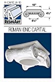 Roman Ionic Capital for Hollow Column - L Size - Composite Resin - Unfinished - Paint Ready - Load Bearing - Dimensions In Images/Details