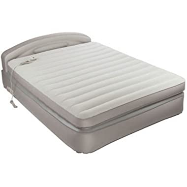 AeroBed Comfort Anywhere 18  Air Mattress with Headboard Design Powerful Built in Ac Pump for Convenient