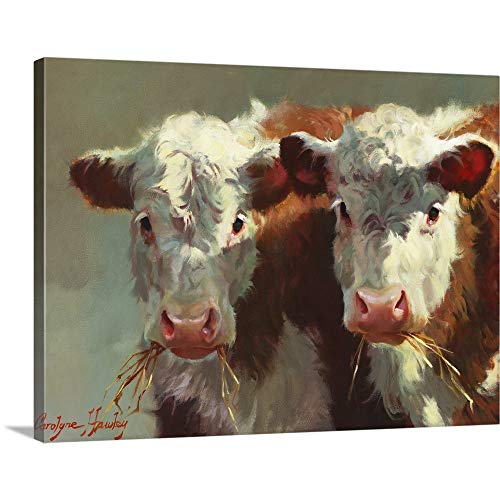 Cow Belles Canvas Wall Art Print, -
