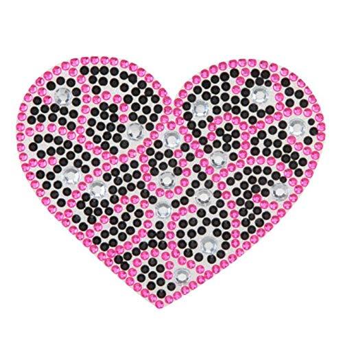 Insten Heart Swirl Design Diamante Bling Crystal Decoration Sticker 5.1